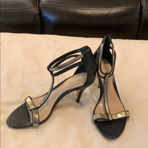 Sexy Black and Gold Vince Camuto Heels